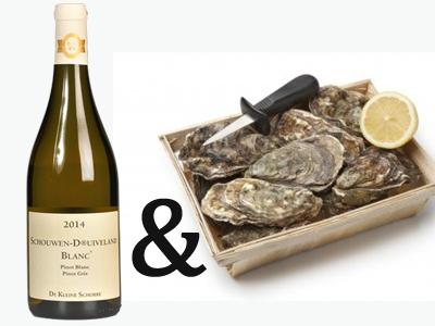 Zeeuwse creuses 12 no 3 & Pinot Gris en oestermes