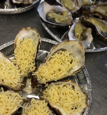 gegratineerde oesters bereiding