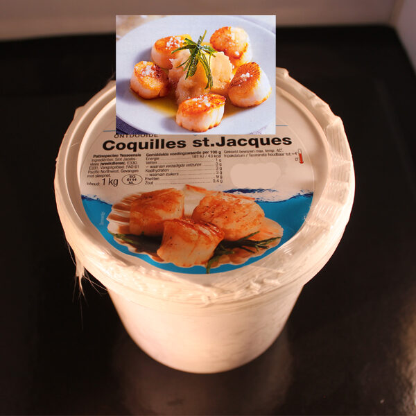 Coquilles in pot